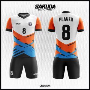 Desain Kaos Sepakbola Full Print Code Creator Motif Garis Unik
