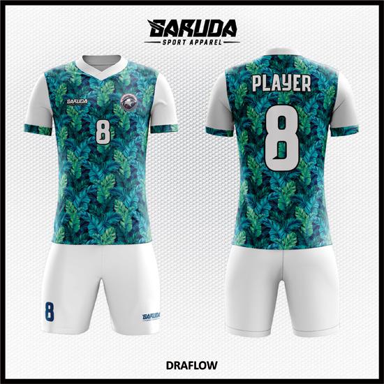 desain baju futsal full print code DRAFLOW terkeren