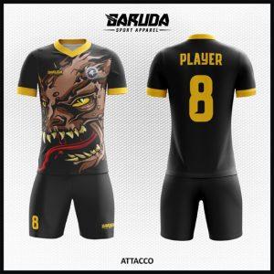Desain Kaos Futsal Full Print Code Attacco Gambar Monster