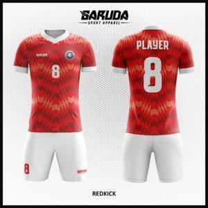 Desain Jersey Sepakbola Printing Code Redkick Tampil Gagah Warna Merah Putih