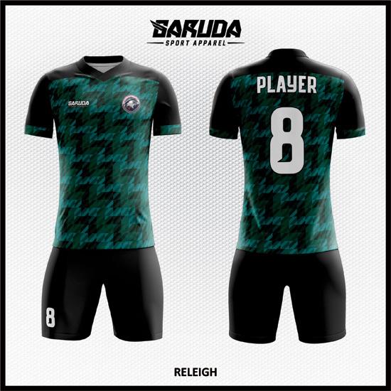 Desain Kostum Futsal Printing Code Releigh HIJAU Lebih Stylish Dan Keren