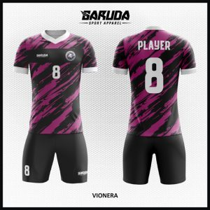 Desain Seragam Futsal Printing Code Vionera Terlihat Lebih Bergaya Warna Hitam Ungu