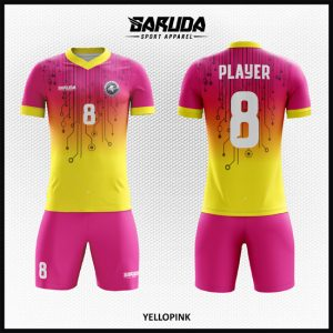 Desain Seragam Bola Futsal Printing Code Yellopink Yang Super Cantik