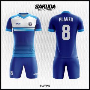 Desain Kaos Bola Futsal Full Print Code Blufine Biru Terbaik