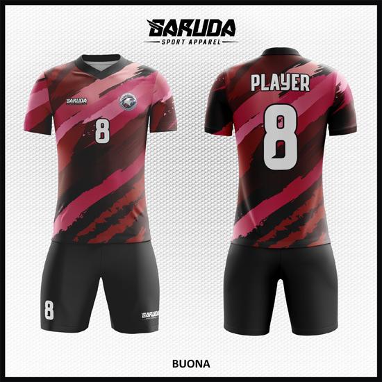 Desain Kaos Sepakbola Full Print Code Buona yang Keren dan Menawan