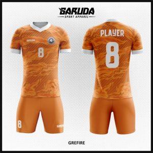 Desain Jersey Sepak Bola Printing Code Gefire Gambar Api Warna Orange