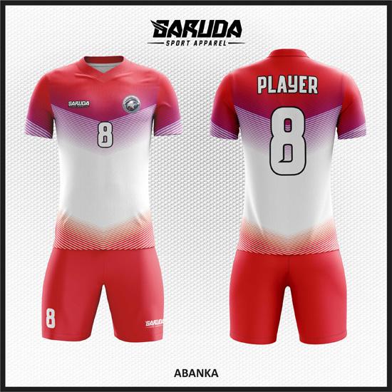 Desain Kaos Futsal Full Print Code Abanka Merah Putih