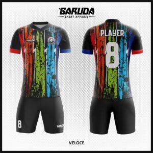 Desain Kostum Sepakbola Printing Veloce yang Full Print