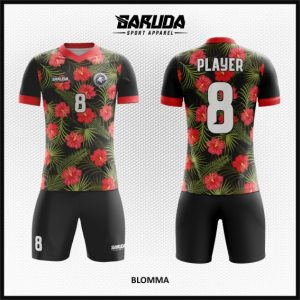 Desain Baju Bola Futsal Printing Code Blomma yang Bertabur Bunga