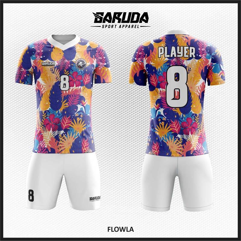 Gambar Kembang Untuk Desain Kaos Bola Futsal Full Printing Yang Indah