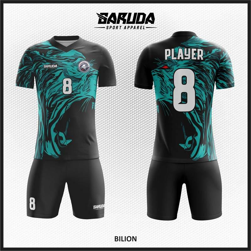 Desain Kaos Sepakbola Code Biliom Gambar Singa Berbahan Dryfit