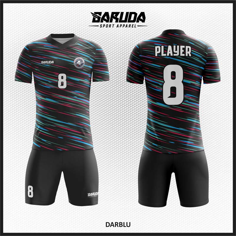 Desain Kaos Bola Printing Darblu Hitam Keren