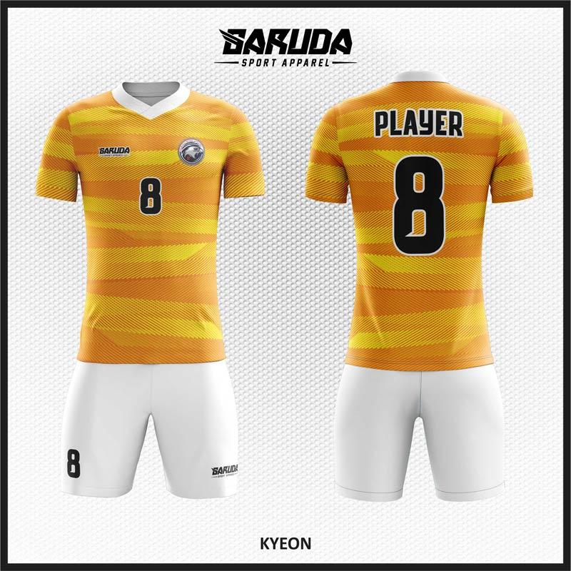 Desain Baju Futsal Code Kyeon Warna Kuning Emas Memukau