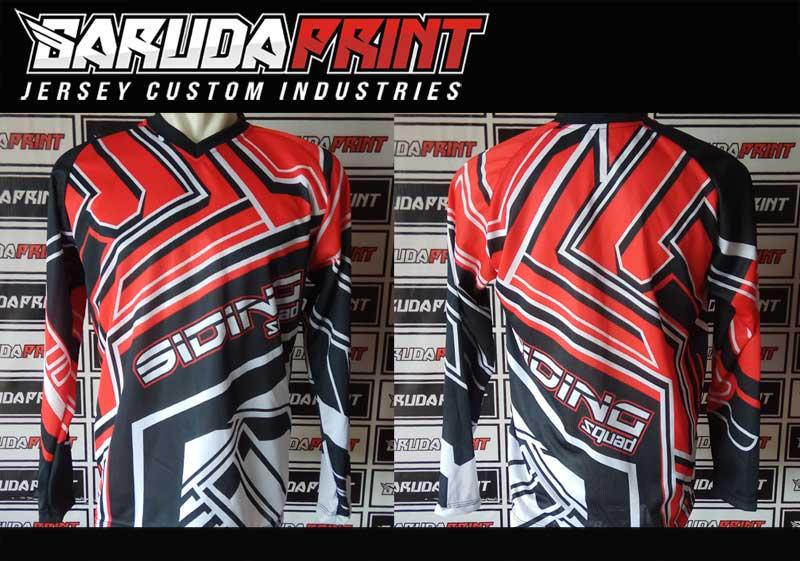 Bikin Kaos Sepeda BMX Motif Zig Zag Orange Hitam Hijau Yang Trendy