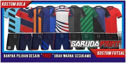 Contoh Pilihan Desain Kostum Futsal yang di sediakan oleh Garuda Print