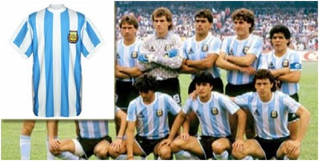 Jersey Argentina Piala Dunia 1986