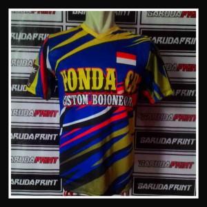 Hasil Produksi : Pembuatan Baju Racing Honda CB