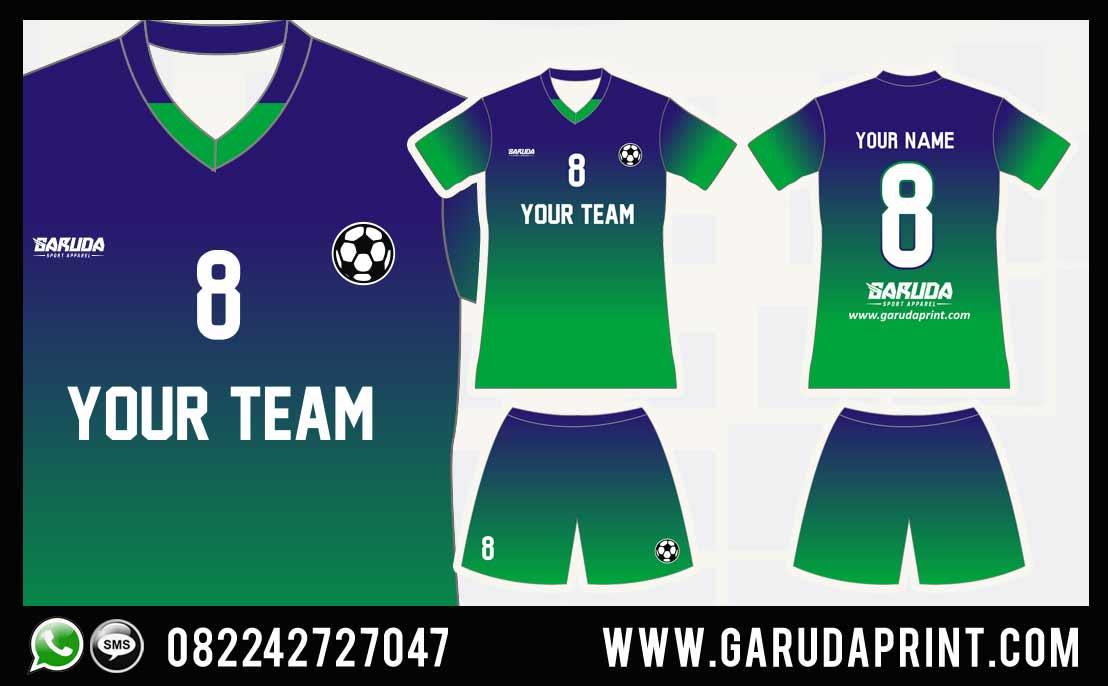 Desain Kostum Futsal Gradasi