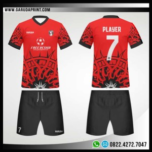 Desain Kaos Futsal 72- Ring Of Fire