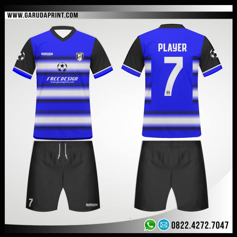 Desain Baju Futsal 74 - Light Blue