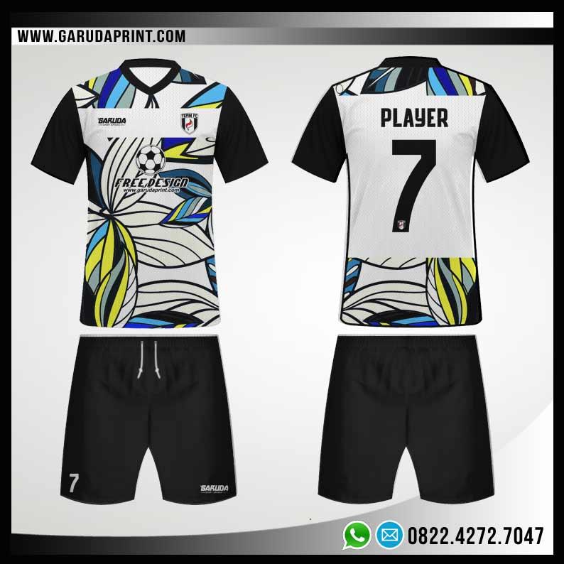 Desain Kostum Futsal Depan Belakang
