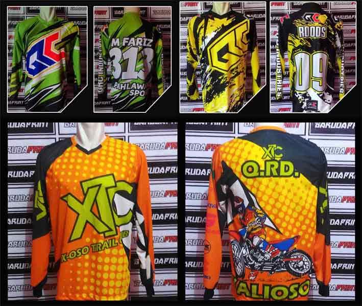 Buat Jersey Motocross Lengan Panjang