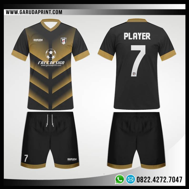 Desain Baju Futsal 79 - Gold Shines