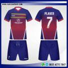 Desain Jersey Bola Futsal 82 – Red Blue Fantasia