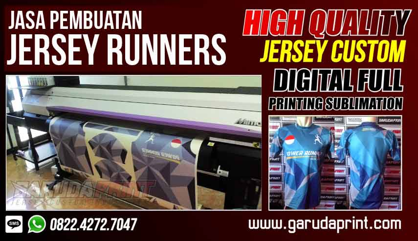Jasa Pembuatan Jersey Runner Dri Fit