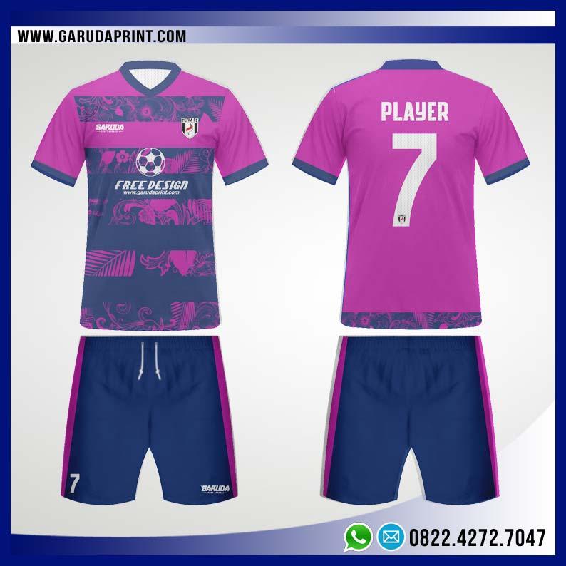 Desain Kostum Bola Futsal 98 - Floral