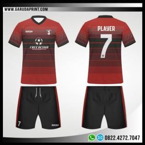 Desain Kostum Futsal 94 – RedBlack