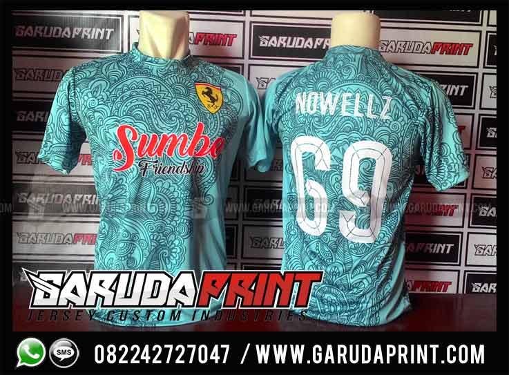 Pembuatan Jersey / Baju Futsal Printing Dari Sumba Nusa Tenggara Timur