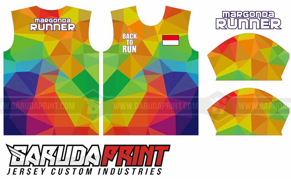 desain Baju Lari Custom