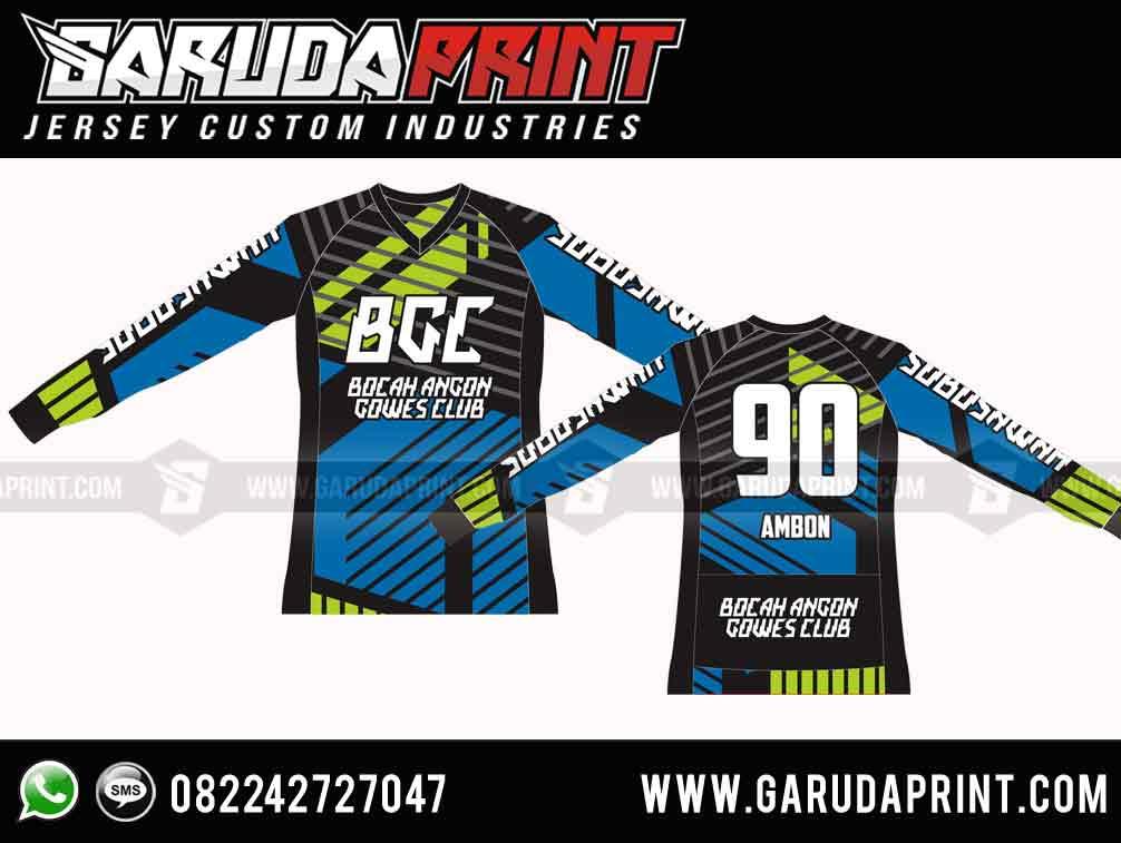 desain Kaos Sepeda Custom