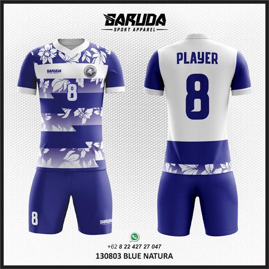 Desain Baju Bola / Futsal Blue Natura