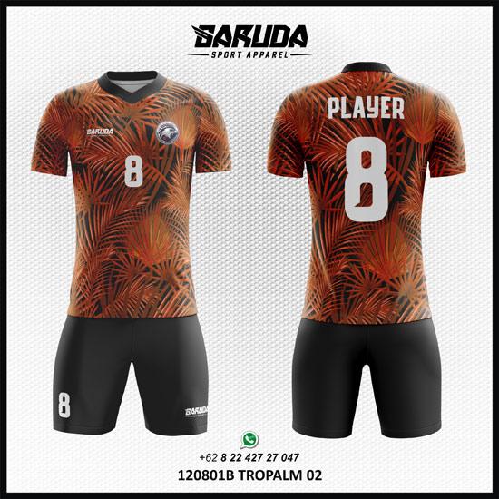 Desain Kostum Futsal Tropalm orange