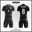 Desain Seragam Baju Futsal Black Delusion