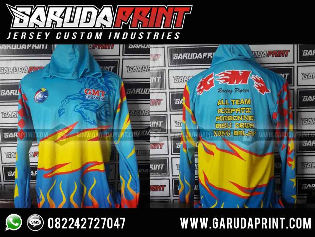 Pembuatan Baju / Jaket Team Merpati Balap