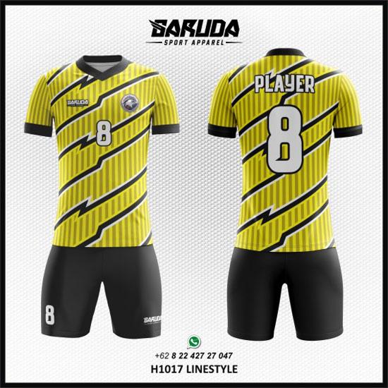 Desain Baju Futsal Printing - Linestyle kuning