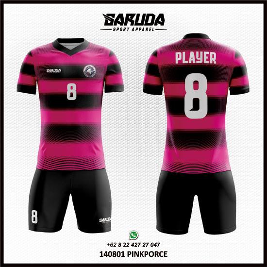 Desain Baju Sepak Bola dan futsal Warna Pink
