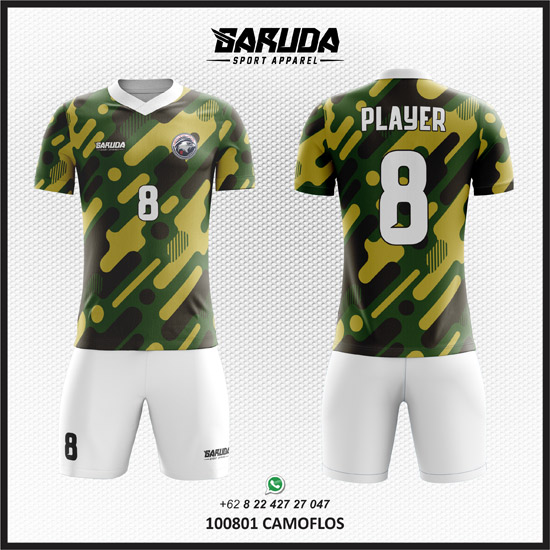 Desain Kaos Futsal Bola Camoflos