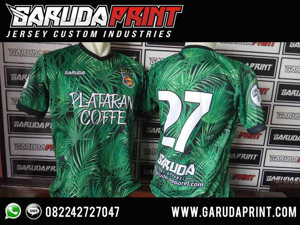 Desain Kaos Futsal Hijau Hitam Full Print