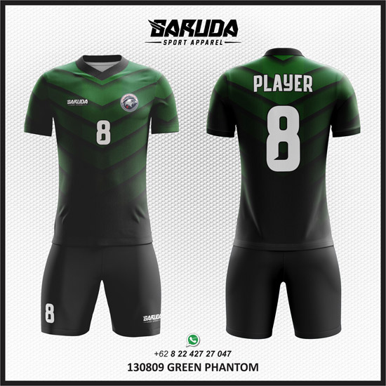 Penyedia Jasa Desain Kaos Futsal Hitam Hijau