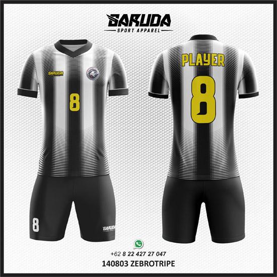 Desain Kaos Futsal Hitam Putih