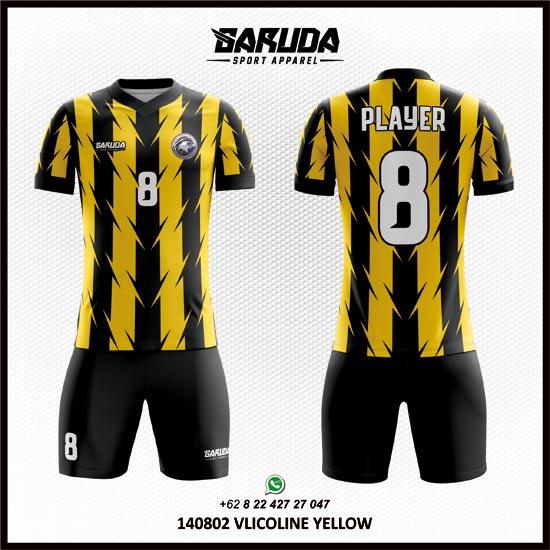 Desain Kaos Futsal Kuning Hitam