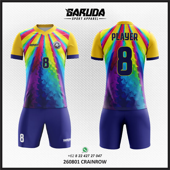 Desain Kaos Futsal Modern Dengan Banyak Warna