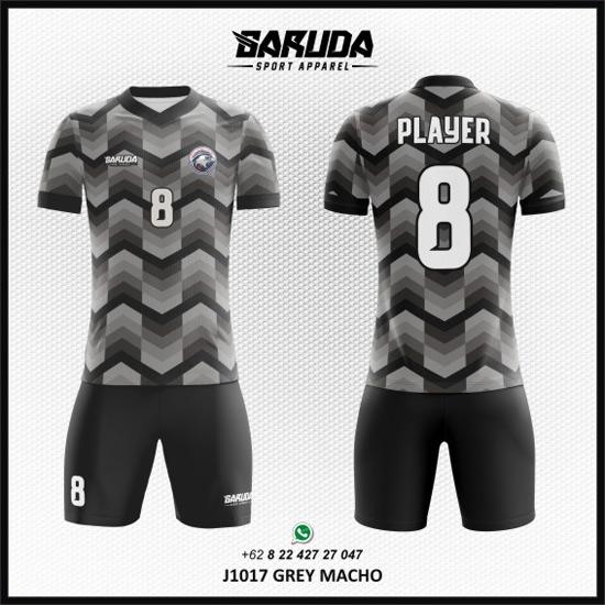 Desain Kaos Futsal Warna Abu-abu yang Keren