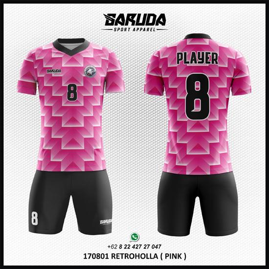 Desain kaos futsal warna pink