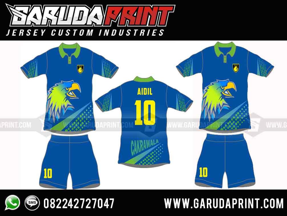 Variasi Desain Kaos Futsal Kerah