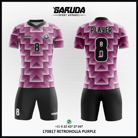 desain baju bola futsal warna ungu printing